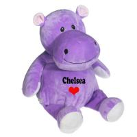 Quality Sitting Pose Purple Hippo Plush Toys for sale