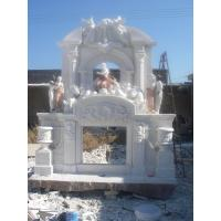 Quality Large marble fireplace mantel for sale