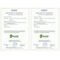 Vast International Vedio Games Co., Limited. Certifications