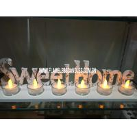 "China Yellow Wholesale Glass Votive Candles with "" SWEET HOME "" Tray For Home Decoration on sale"