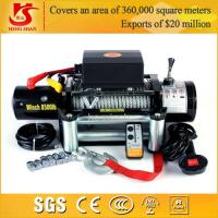 Quality 12v 9000lbs winch wireless remote control portable electric winch for sale