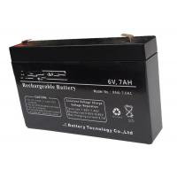 Quality Solar System 6v 7ah Rechargeable Battery , Long Life Lead Acid Battery for sale