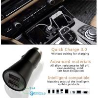 Best Dual Usb Car Charger 5V 2.4A Style Quick Charger 3.0 For Mobile Products wholesale