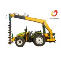 Quality Tower Erection Tools 100HP Tractor Mounted Digger Machine With Crane / Auger for sale