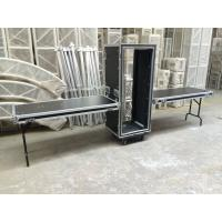 Quality Colorful 18U Standard Rack Flight Case With 2 Pcs Of Stand And Top Table for sale