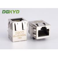 Quality Through hole RJ45 Female Jack  , 8 Pin cat5 rj45 connector with magnetics for sale