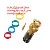 China BNC Coaxial Connector BNC male Compression connector gold plated 50ohm for RG6 Coax Cable premium quality on sale