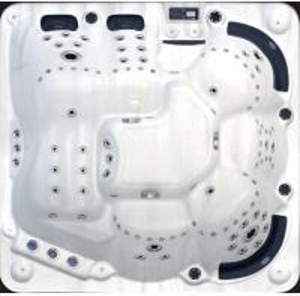 China 6 Seats Jacuzzi Massage Bathtub For Indoor Bathroom / Outdoor Backyard Spa on sale