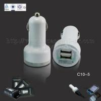 Quality CE RoHS Approved Double USB Car Charger with 5V, 1000mA and 2100mA for iPad for sale