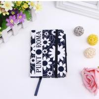 Quality Color diary agenda notebook with elastic strap and back pocket for sale