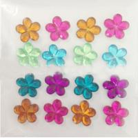 Quality flower rhinestone crystal epoxy sticker for mobile cover for sale