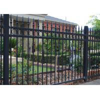 Quality security spear top steel fence, garden wrought iron fencing for sale