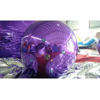 Quality 1M Inflatable Mirror Ball Balloons With Logo Printed Purple And Blue for sale