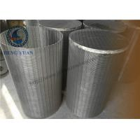 Buy cheap 304 SS Johnson Wedge Wire Screen Groundwater Wells V Shape For Drum FIlter from wholesalers