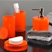 Quality orange bathroom accessories for sale