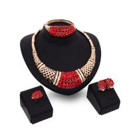 Quality Exaggerated big imitation ruby wedding jewel/wedding jewelry set/jewellery set for sale