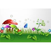 Quality Bamboo Fiber Interior Faux Stone Wall Panels Green Grass Butterfly Eco Friendly for sale