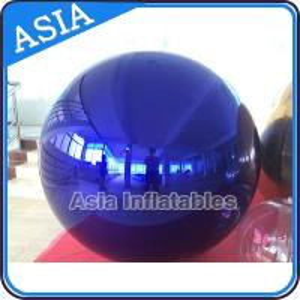 China Inflatable Huge Bule Mirror Ball Advertising Inflatable Product Large Mirror Balloon on sale