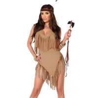 China Fancy Fringe Sexy Native American Costume Wholesale with Size S to XXL Available on sale