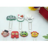 Quality Cheap in-stock cartoon penguins rabbit duck monkey animal shape pvc wrap spring clips pins bookmark for sale for sale