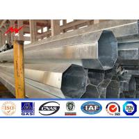 Best 15m Electrical Galvanised Steel Pipe Taper / Polygonal Shape For Transmission Line wholesale