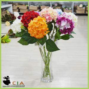 China Popular Artificial Hydrangea Silk Flower Bouquet for Flower Arrangement from China on sale