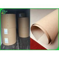 China Smooth Surface 300GSM Brown Kraft Paper Roll For Making Pizza Box on sale
