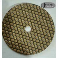 China 7 Inch Honeycomb Dry Diamond Polishing Pads For Stone Surface Super Soft Type on sale