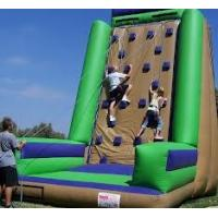China Custom Made Commercial grade PVC tarpaulin Inflatable Climbing Wall Sports Games  on sale