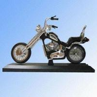 Quality Motorcycle Alarm Clock, Measuring 34 x 10.5 x 20.5 cm for sale