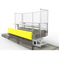 Permanent Aluminum Grandstands Bench With Powder Coated Aluminum Legs