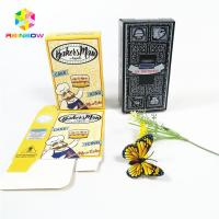 China Full color customized logo UV craft paper boxes with hang hole bottle gift cosmetics packing box on sale