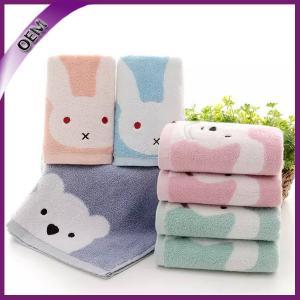 Quality high quality 100% cotton jacquard cartoon baby hand towel for sale