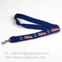 Best Tube Lanyard Neck Ribbon with Metal Rifle Trigger Hook, polyester tubular straps wholesale