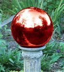 China Red revolving  glass handcrafted   witches Gazing Ball Stands for  decorative on sale