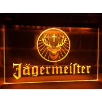 Buy cheap Factory Wholesale Wall-mounted Jagermeister Deer head LED Illuminated Neon Bar Sign Display from wholesalers