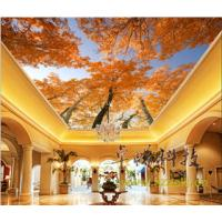 Quality Maple Leaves Bamboo Fiber Integrated Ceiling System For Hotel Room Decoration for sale