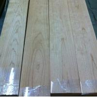 China Quarter Cut Cherry Wood Floor Veneer Sheets Fine Straight Crown Grain on sale