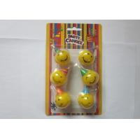 Best Yellow Smile Face Shaped Birthday Candles Dia 3cm Indoor Party Decoration wholesale