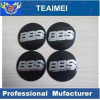 China 56mm BBS Car Sticker ABS Plastic Label Sticker With Glass Cement on sale
