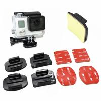 China GP10 Flat Curved Base Mount 3M VHB Stickers For GoPro Hero 6 5 3 4 Session Xiaomi Yi 4K EKEN H9r Mount Accessories Set on sale