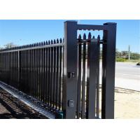 Quality Garrison Security Fencing steel picket Fence for sale 65mm x 65mm x 3000mm post for sale