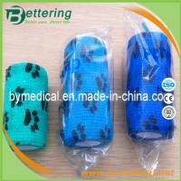Quality Paw printing animal cohesive bandage pet bandage veterinary self adhesive bandage for sale