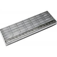Quality Square Mesh Serrated Stair Treads Galvanized Grating Steps With Bolts Connection for sale