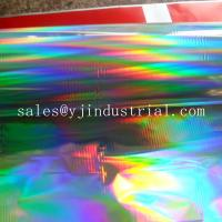China width 1090 mm seamless rainbow pattern PET holographic lamiantion film of supplier on sale