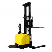 Quality Wide Legs1.6 Ton Electric Pallet Stacker Forklift 280AH Battery Charged for sale