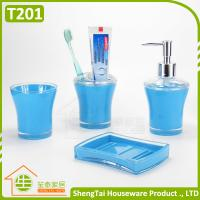 Best Blue Black Red Green Top Selling Plastic Bathroom Set For Hotel Bathroom wholesale