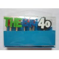 Best Colorful Individual Letter Candles No Smoke for 40th Birthday Celebration wholesale