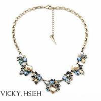 China VICKY.HSIEH Brass Ox Tone Multi Color Resin Bead Latest Design Beads Necklace on sale