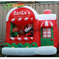 Best Lovely Large Inflatable Christmas Decorations With Inflatable Santa Workshop wholesale